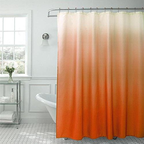 ombre waffle weave shower curtain