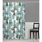 MAYTEX Owl Fabric Shower Curtain Teal Multi 70 inches x 72 C