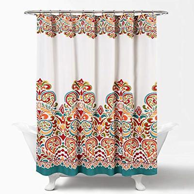"Lush Decor 16T000086 Clara Shower Curtain 72"" X 72"" Turquois"
