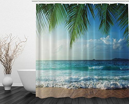 palms ocean tropical island beach