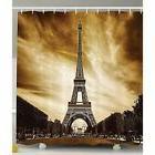 Ambesonne Paris Shower Curtain Sets Eiffel Tower Decor By, A
