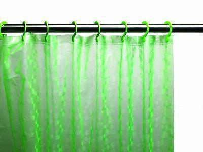 Peva Shower Curtain, Electric Green