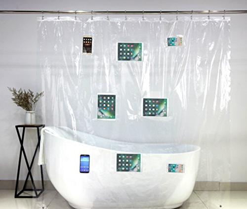 phone tablet holder shower curtain