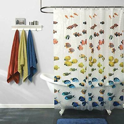 Maytex Photoreal New School Waterproof PEVA Shower Curtain