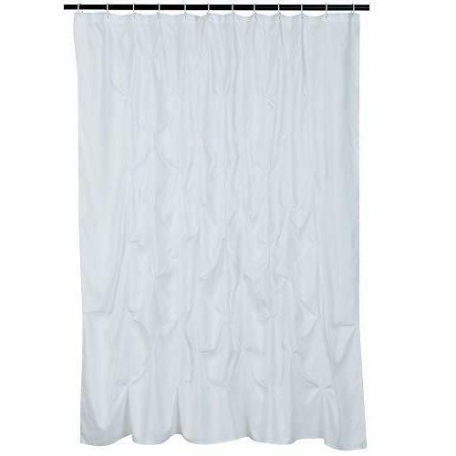 AmazonBasics Pinch Pleat Shower Curtain - Bright