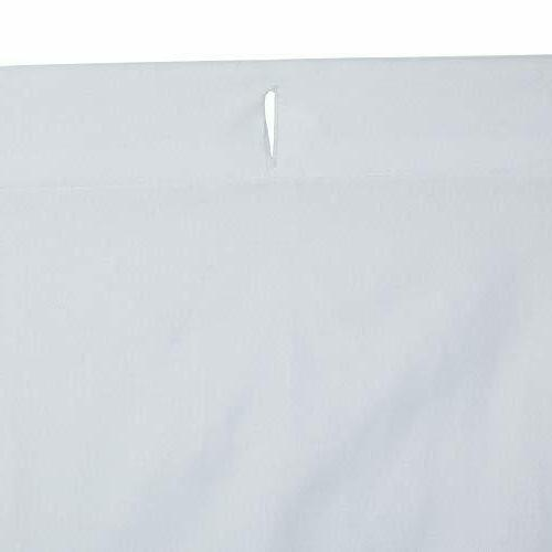 AmazonBasics Pinch Curtain Bright White