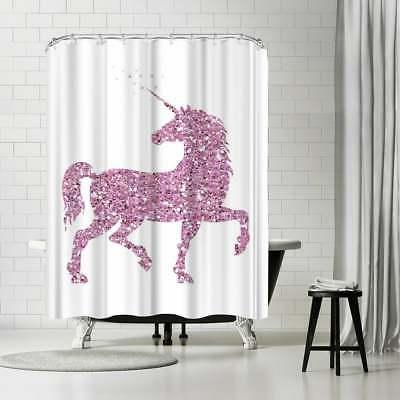 Americanflat 'Pink Glitter Unicorn' Shower Curtain
