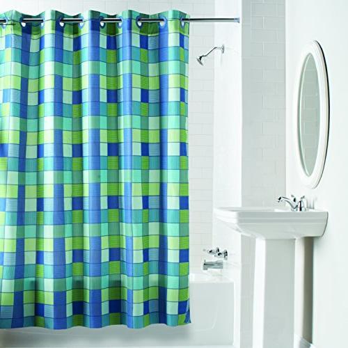 plain weave shower curtain