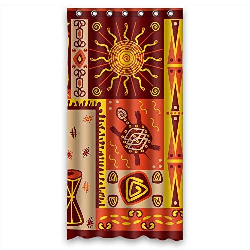 polyester block shower curtains width