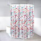 Polyester Shower Curtain and Hooks Set Mansi Floral Bath Acc