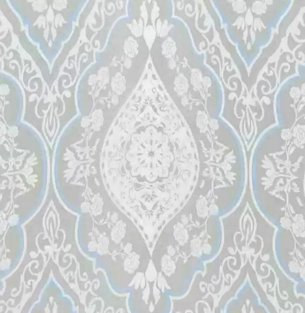 primrose peva shower curtain in blue white