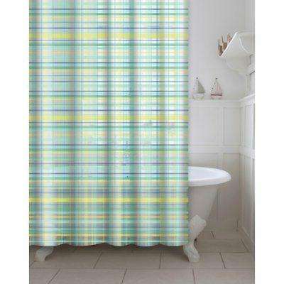 Creative Home Ideas Printed Plaid Shower Curtain