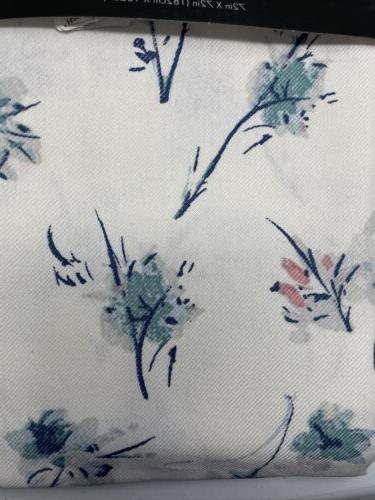 Tahari Home Shower Curtain 72x72 Cream Teal