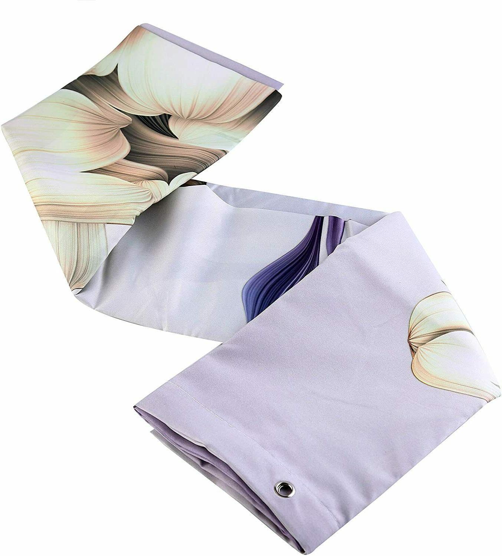 Purple Flower Shower Curtain Bathroom Decor with Hooks