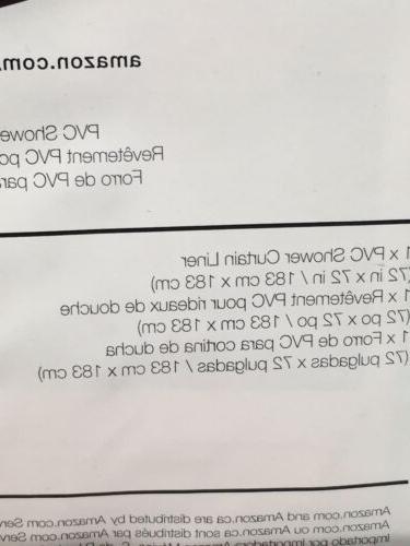 """PVC SHOWER 72""""x72"""" NIB Blue"""