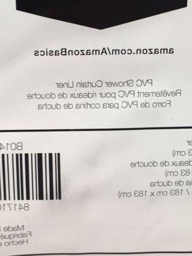 "PVC SHOWER CURTAIN 72""x72"" Amazon NIB Blue"