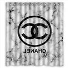"""Rare!!Chanel White Marble Shower Curtain Size 60""""x72"""" , 66"""""""