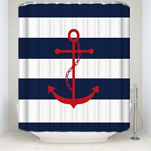 red anchor blue stripes print