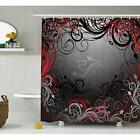 Red And Shower Curtain Sets Black By Ambesonne, Mystic Magic