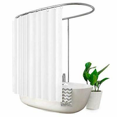 white extra wide shower curtain set all