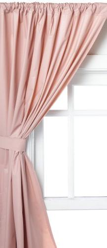 Carnation Home Fashions Rod Pocket Curtain Panels