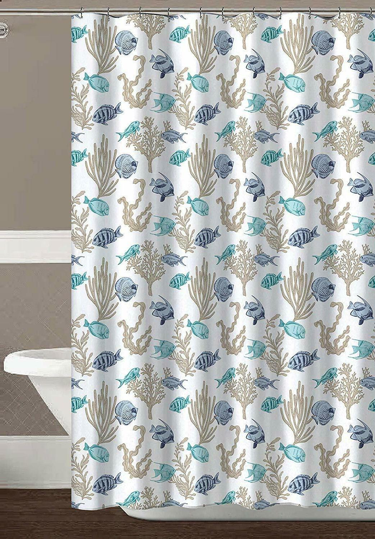 royal palm ocean sea life fish fabric