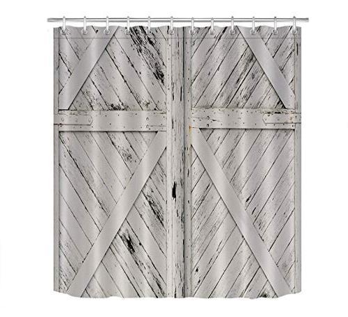 rustic barn door white painted
