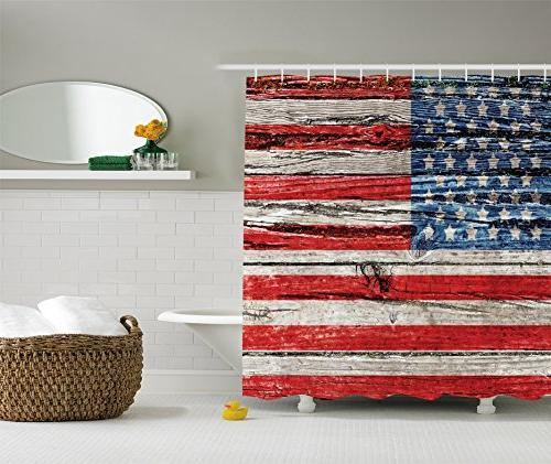 american flag shower curtain usa