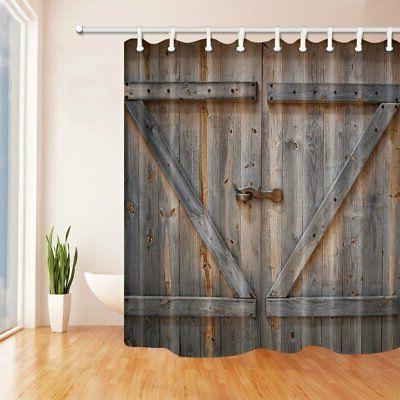 KOTOM Decor Curtain Rustic Door