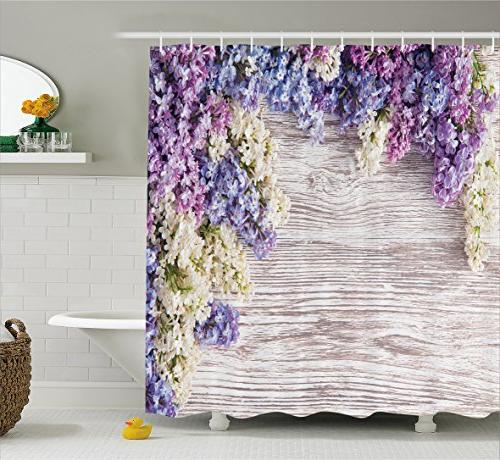 rustic home decor shower curtain