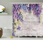 Ambesonne Rustic Home Decor Shower Curtain Lilac Flowers Bou