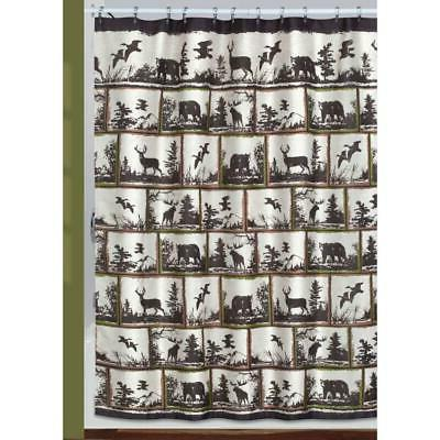 rustic montage outdoors themed shower curtain hooks