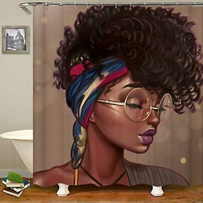 Afro African Women Shower Curtain African American Tradition