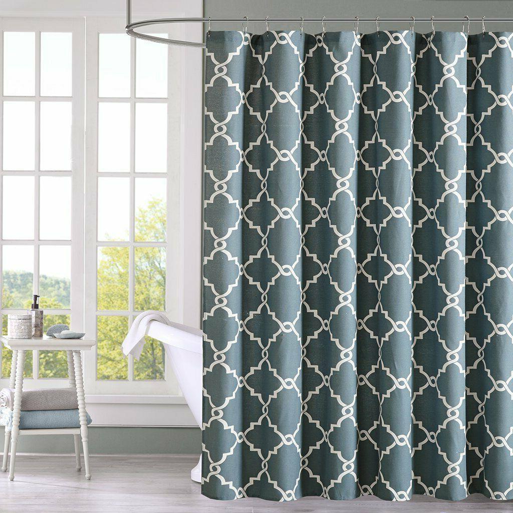 Saratoga Shower Curtain, Blue