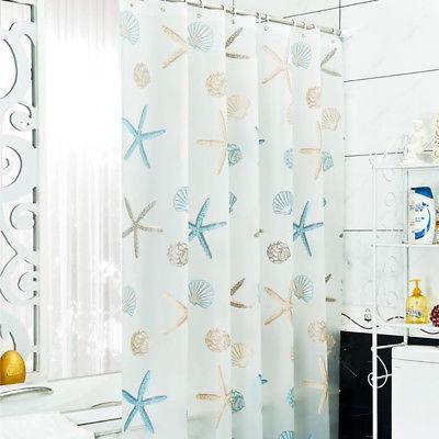 sea shell starfish shower curtain 70 8