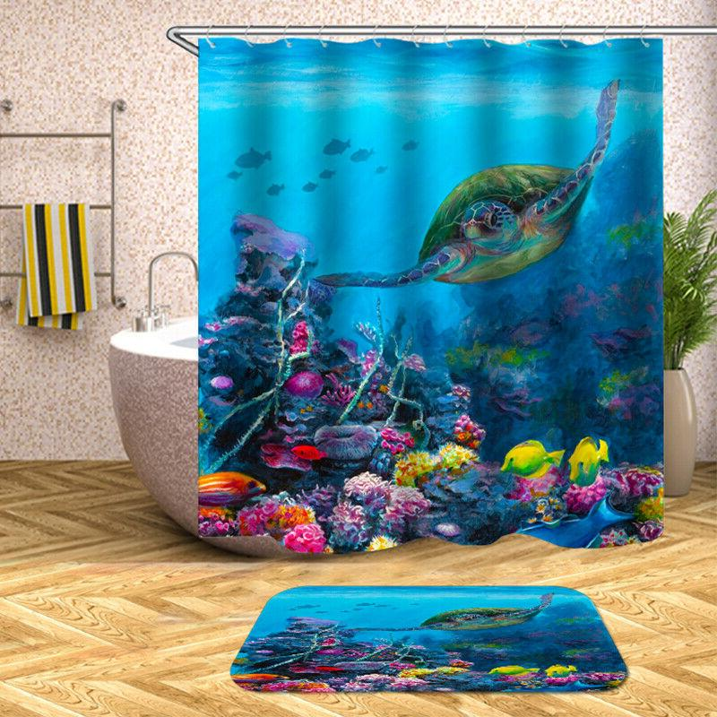 Sea Turtle Curtain Curtains Polyester