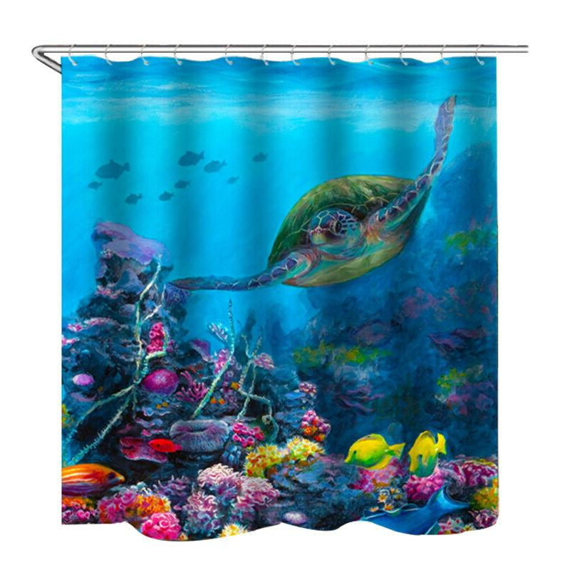 Sea Waterproof Curtain Bathroom