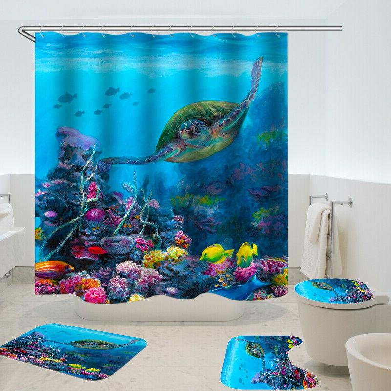 Sea Turtle Curtain Home Polyester Fabric