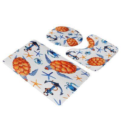 Sea Bathroom Shower Cover Set