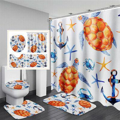 sea turtles waterproof non slip bathroom shower