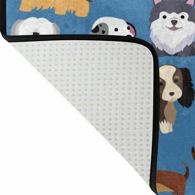 ALAZA of 2 Cute Animal Dog 60 Curtain and Mat Set,
