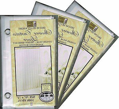 set of 3 vinyl shower curtain liners