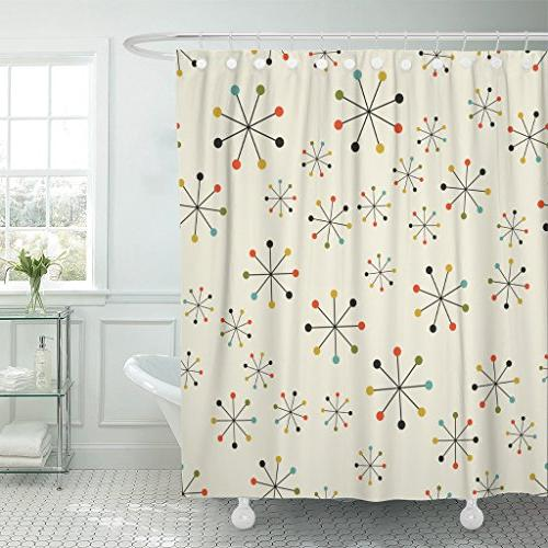 shower curtain 60s mid century