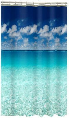 Shower Curtain Beach Scene MAYTEX Photo Real Escape Waterpro