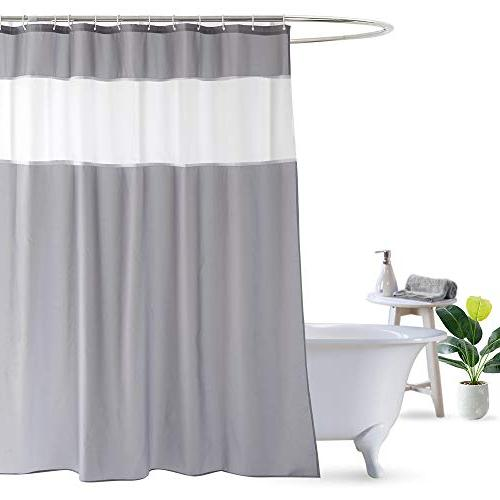 shower curtain grey white