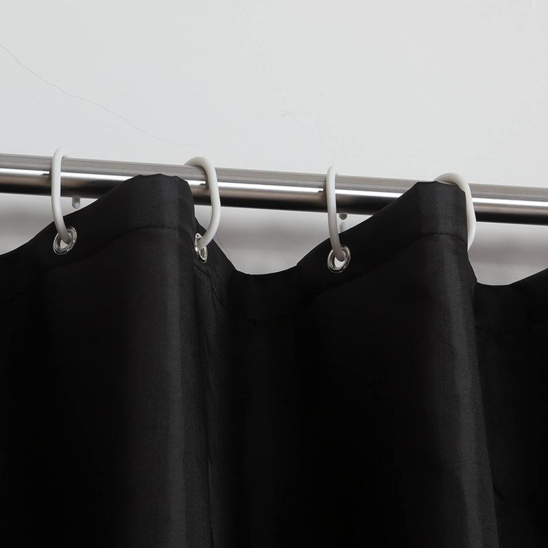 Polyester Fabric Bathroom Washable 72x 80