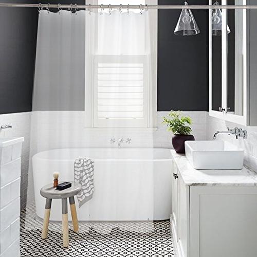 Amazer Curtain, W x H Resistant Bathroom No Grommet