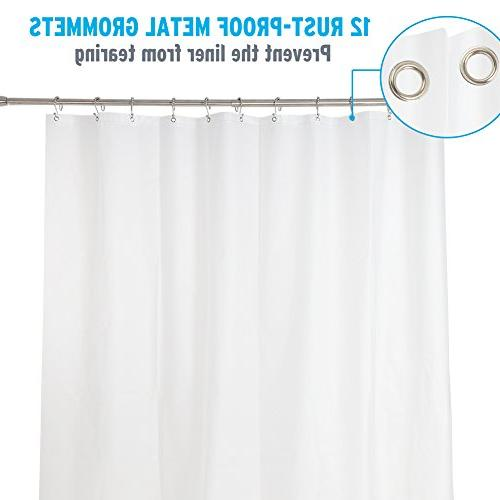 Amazer Curtain, W x H Frosted EVA Resistant Bathroom No Smell with Rustproof Grommet