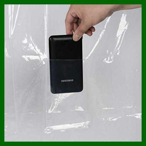 """Shower Liner X 72"""" W 8 Touch Pockets Ipad Phone"""