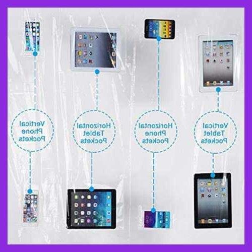 """Shower Curtain Liner X 72"""" 8 Ipad Phone Table"""